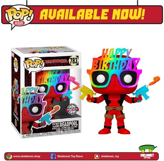 Pop Marvel Deadpool 30th Anniversary Birthday Glasses Deadpool Ex Sheldonet Toy Store