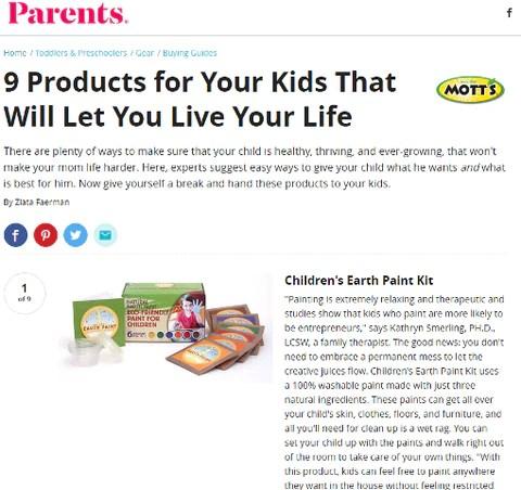 Parents Magazine Article