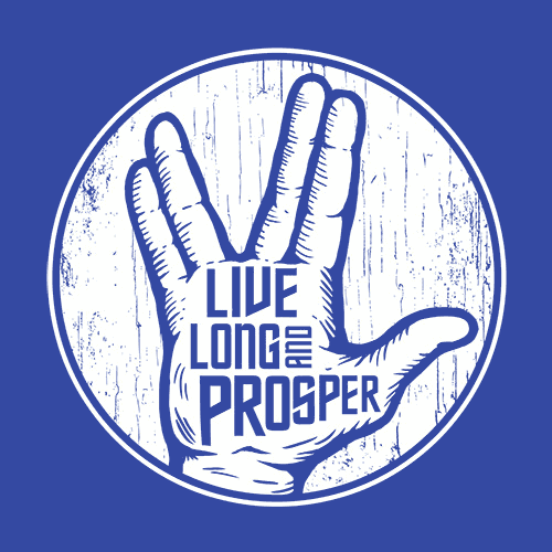 Live Long And Prosper T Shirt Spock Textual Tees