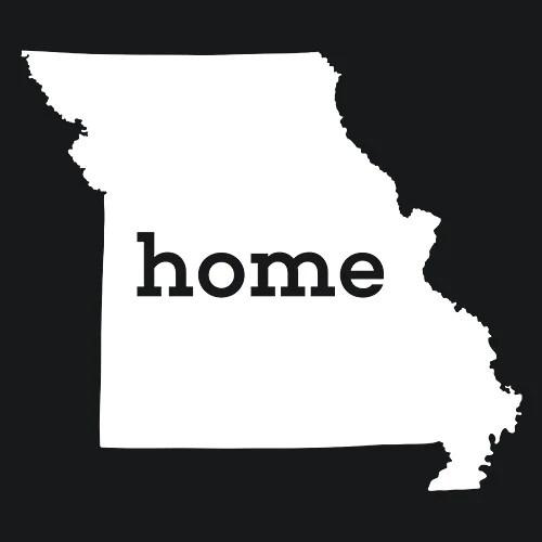 Missouri Home T Shirt Custom Made Textual Tees