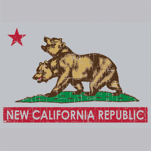 New California Republic T Shirt Fallout Textual Tees