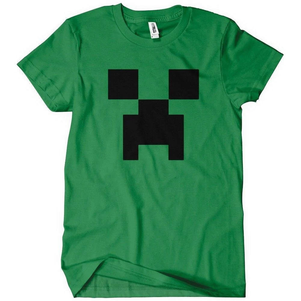 Creeper T Shirt Funny Gamer Minecraft Tee Textual Tees