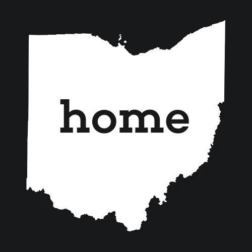 Ohio Home T Shirt Custom Made Textual Tees