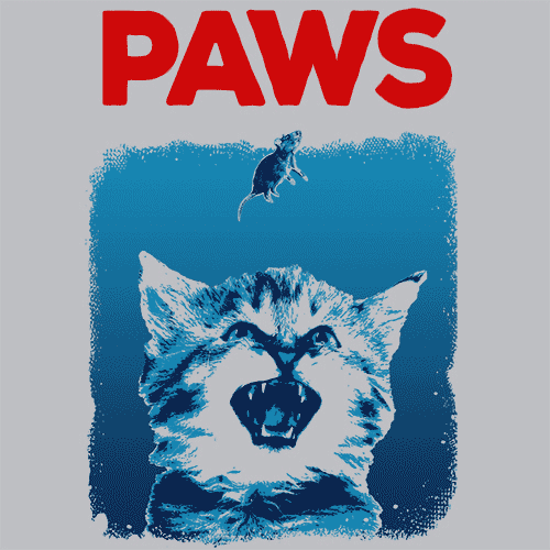 Paws T Shirt Funny Shark Week Apparel Textual Tees