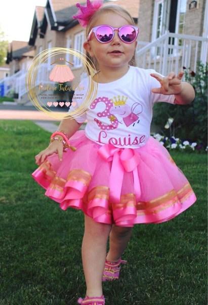 Peppa Pig Birthday Tutu Outfit Jadoretutuchic