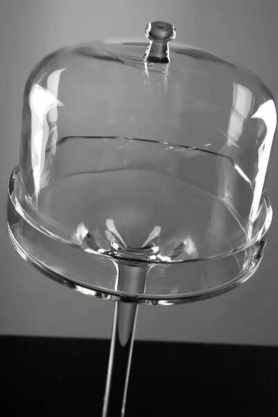16 dessert stand glass cloche dome