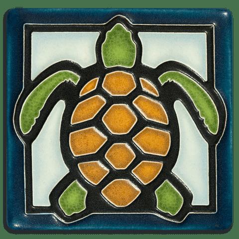 4x4 Turtle Light Blue Motawi Tileworks Motawi Tileworks
