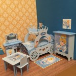 1 12 Scale Ooak Handmade Princess Carriage Bedroom Set Cinderella Insp Sarah S Dolls N Things
