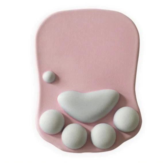 katzpad samtpfoten mousepad mit handballenablage