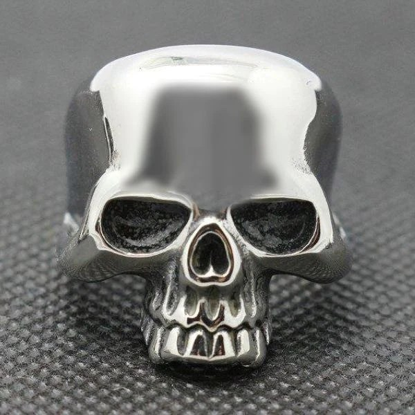 Old School Badass Sturgis Stainless Steel Skull Ring