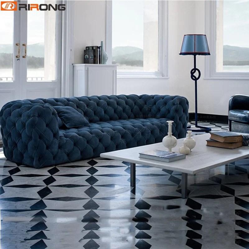 spain design living room sofa set velvet leather chesterfield sofa salon couch ornamental stitch capito