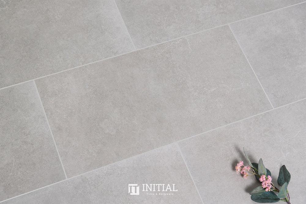 concrete look tile cuba ash matt 300x600