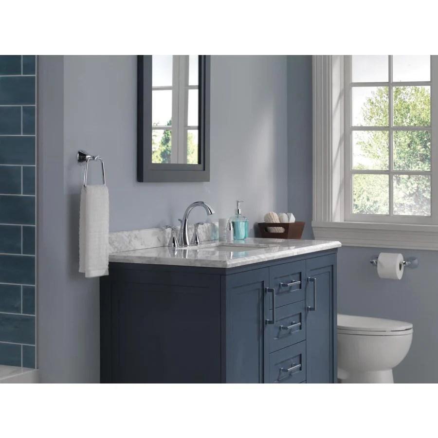 delta sandover chrome 2 handle widespread watersense bathroom sink faucet with drain
