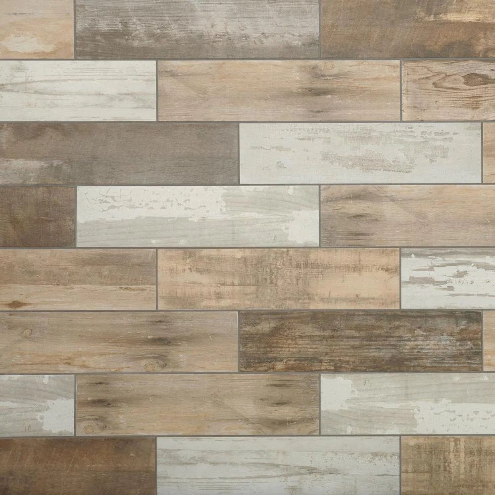 Marazzi Montagna Rustic Bay 6 In X 24 In Glazed Porcelain Floor And Super Arbor