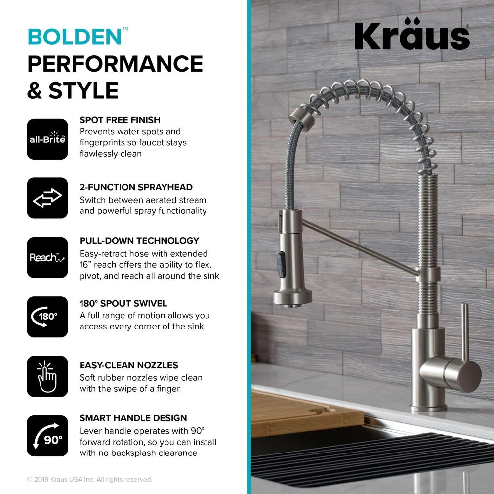 loften all in one dual mount stainless steel 25in single bowl kitchen sink with pull down faucet in spot free stainless