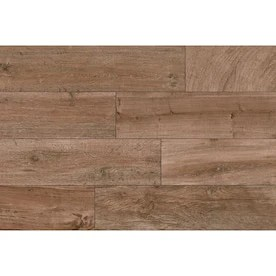 style selections woods natural 6 in x 24 in porcelain wood look floor