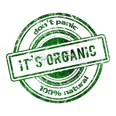 don't panic it's organic 100% natural logo