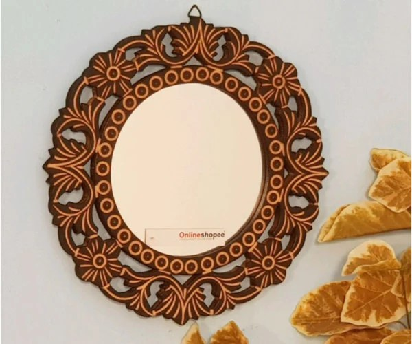 Buy Wooden Decorative Mirrors Online At Woodentwist Com