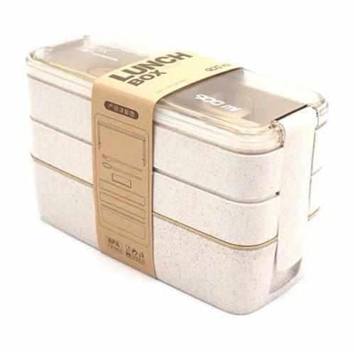 30 fl oz 900ml portable 3 layer lunch box microwave safe