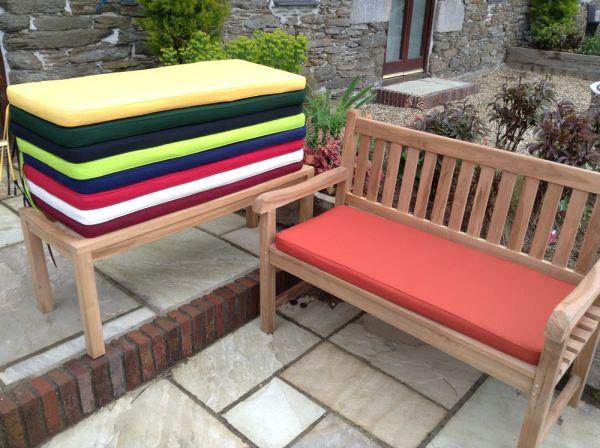 2 seater bench cushion terracotta