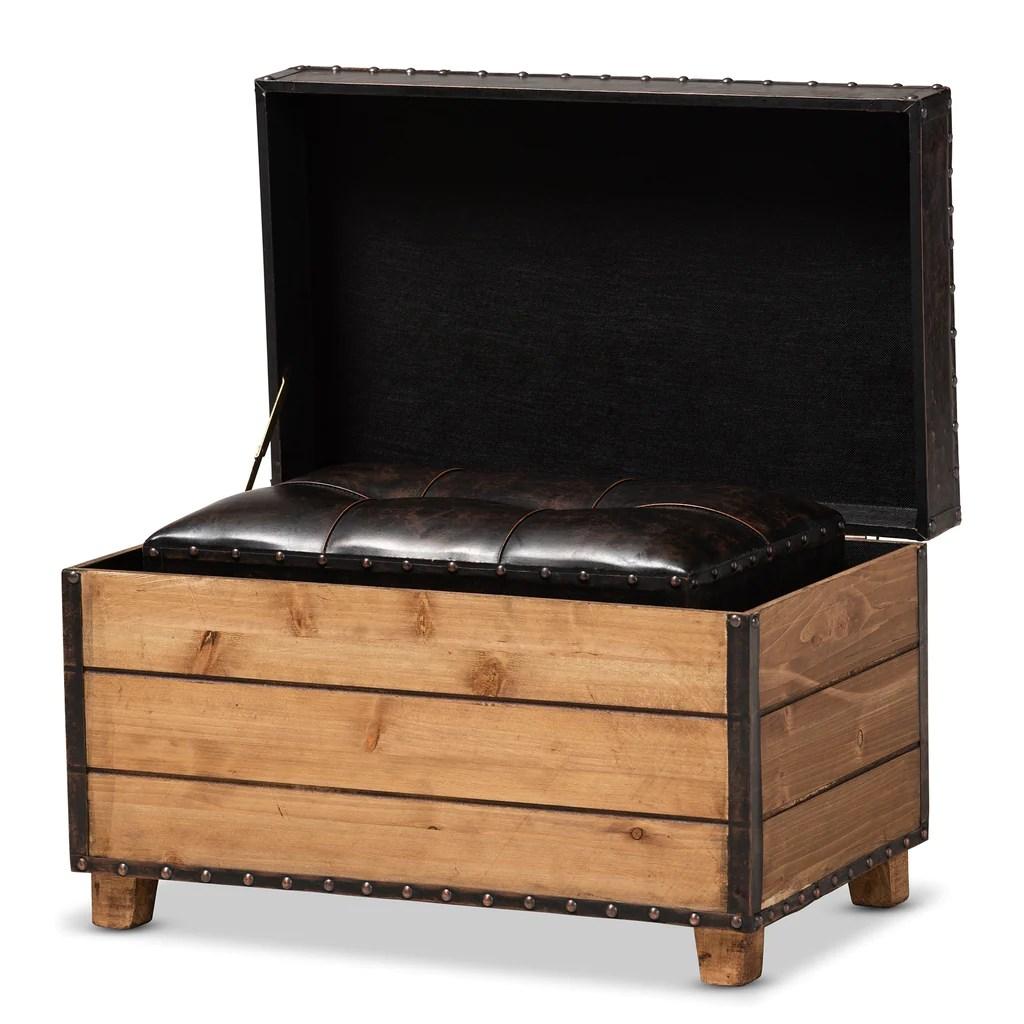 marelli rustic dark brown faux leather