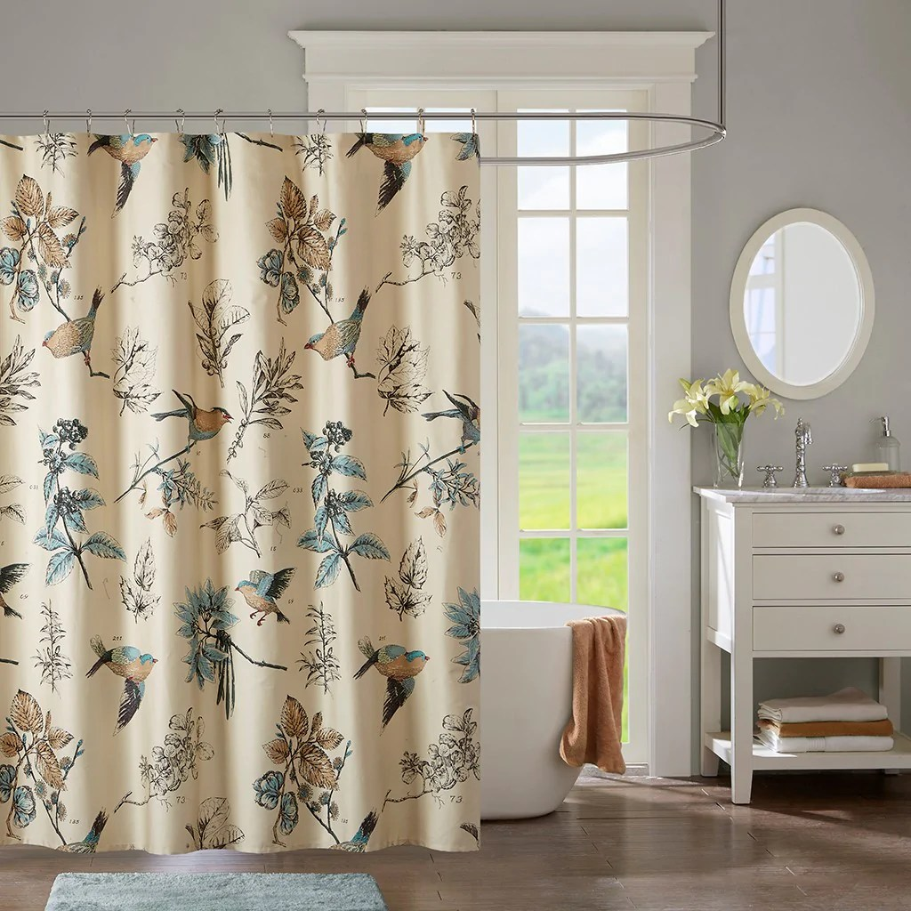 quincy transitional 100 cotton printed shower curtain english elm