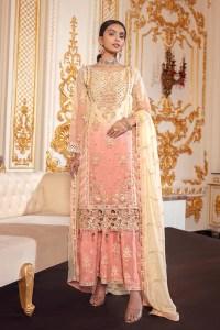 Emaan Adeel BR-08 CORAL CHROMA Belle Robe Wedding Edition