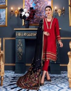 Emaan Adeel Red romance MKH01 Makhmal Luxury Velvet Edition