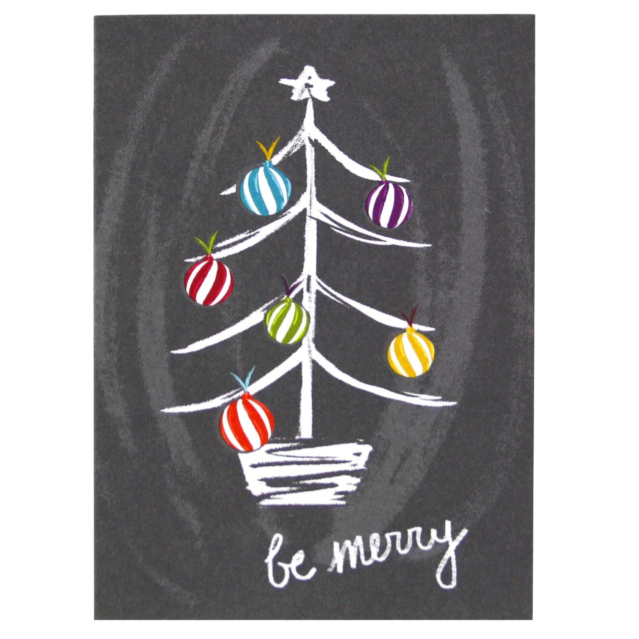 Chalkboard Christmas Tree Card Merry Christmas Cards