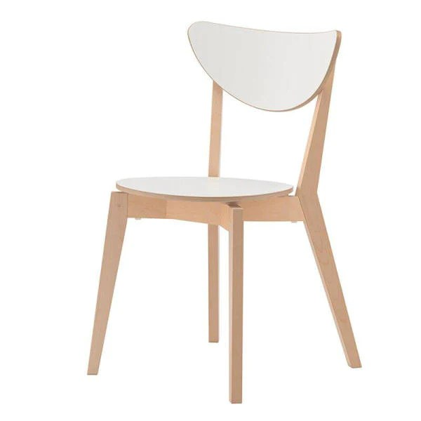 chaise bois design scandinave blanche