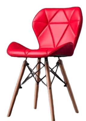 chaise scandinave rouge rose