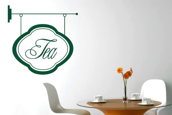 Tea Shop Sign Wall Sticker CUT IT OUT Wall Stickers