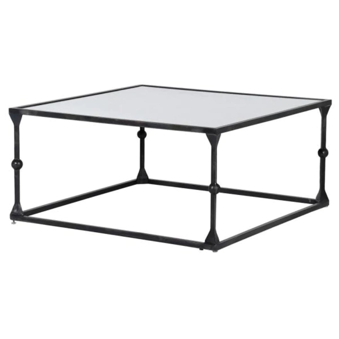 mirrored coffee table 90cm square