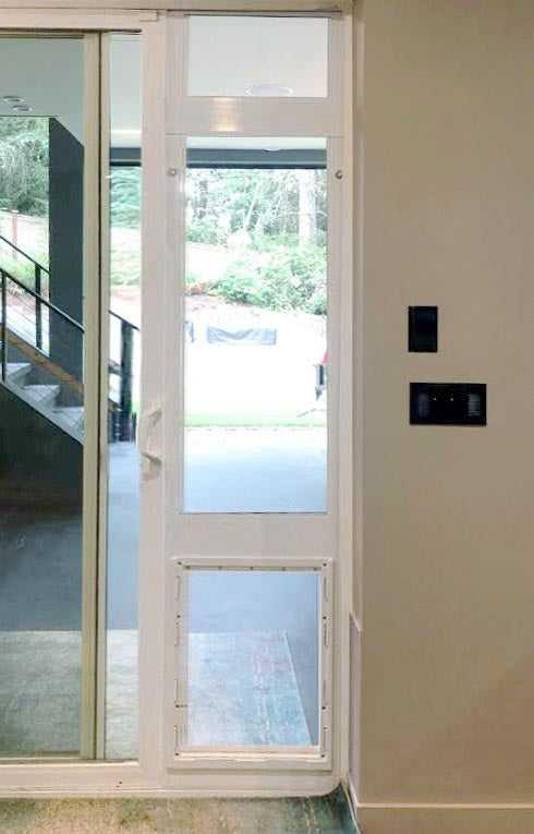 ideal custom height fast fit patio pet door insert white