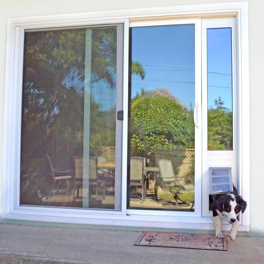 dog door for sliding glass door with