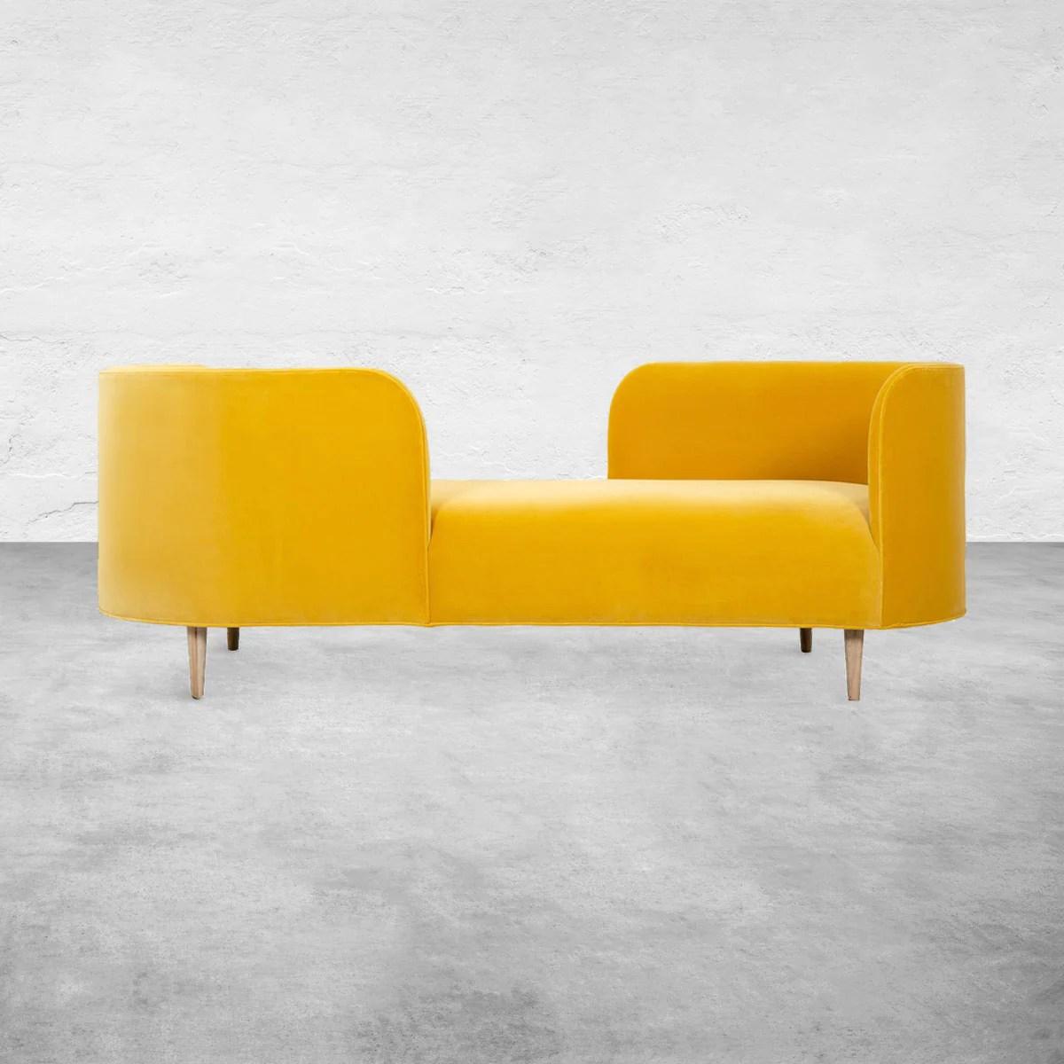 oslo chaise in velvet
