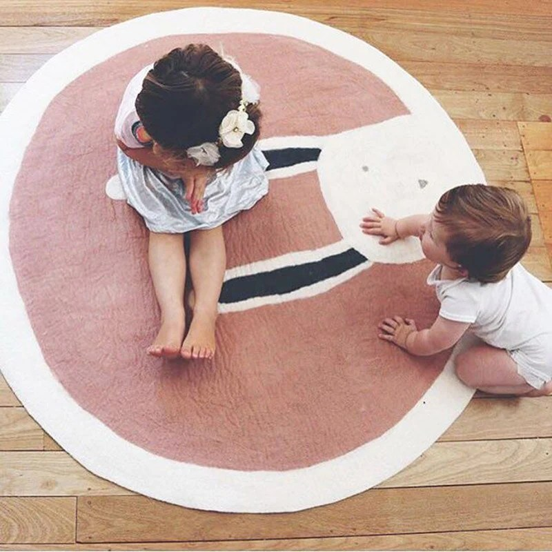 tapis rond animaux scandinave kidyhome
