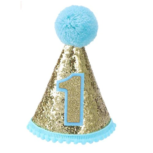 Infant Baby Shiny 1st Birthday Cone Hat Available For Baby Girl And Baby Boy Party Caps Hats Funzoop