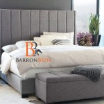 Noah Lined Upholstered Wingback Bed Frame Barronbeds