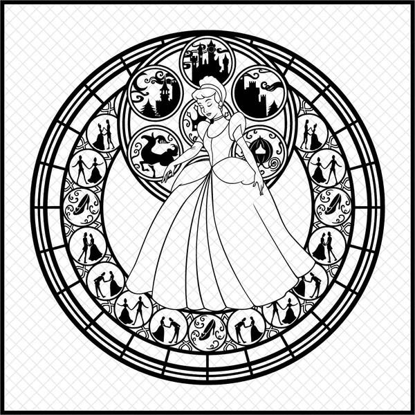 Download Cinderella Mandala SVG,dxf,png,Digital download, Instant ...