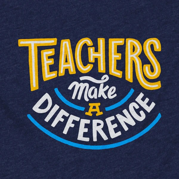 Teachers Make A Difference T Shirt Stately Type