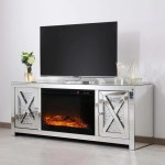 Crystal Mirrored Fireplace Tv Stand Adams Furniture