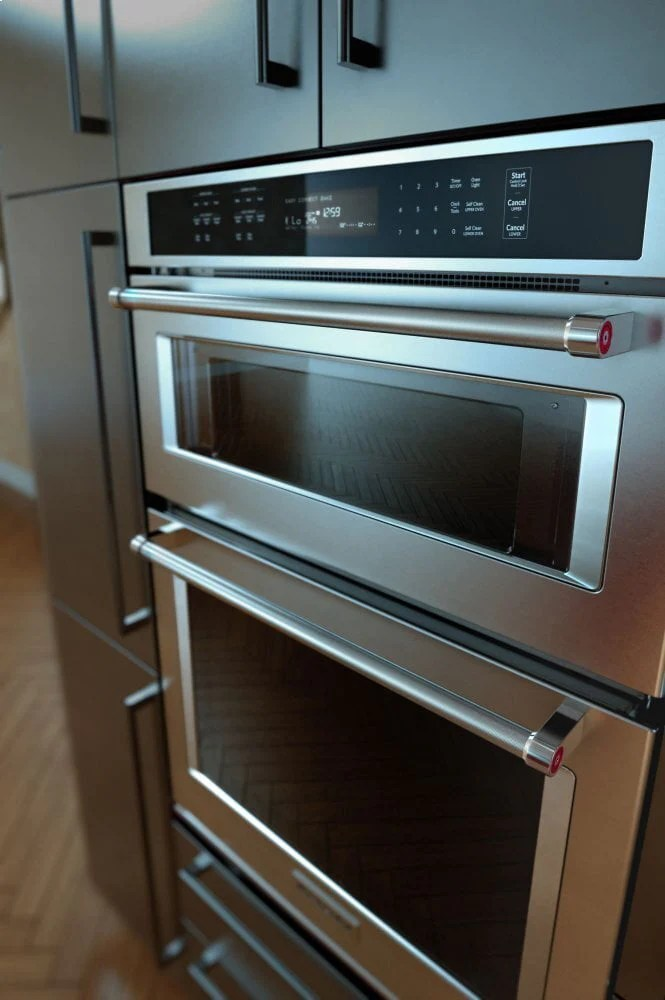 kitchenaid koce500ess 30 combination wall oven with even heat true convection lower oven stainless steel