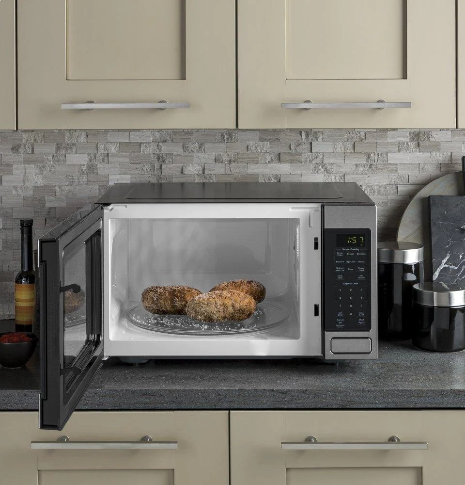 ge appliances jes1657smss ge 1 6 cu ft countertop microwave oven