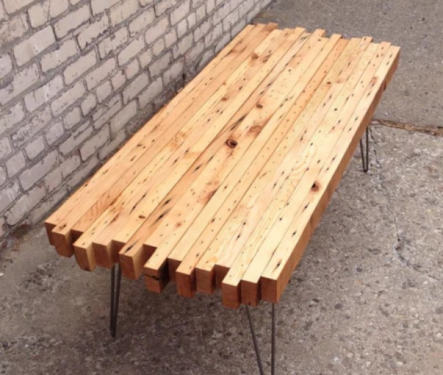 Reclaimed Wood Coffee Table From Workshop Handmade In Detroit
