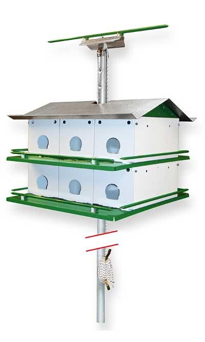 Purple Martin Birdhouse Safety System With Pole 12 Room