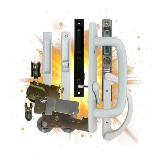 gas hardware sliding door parts