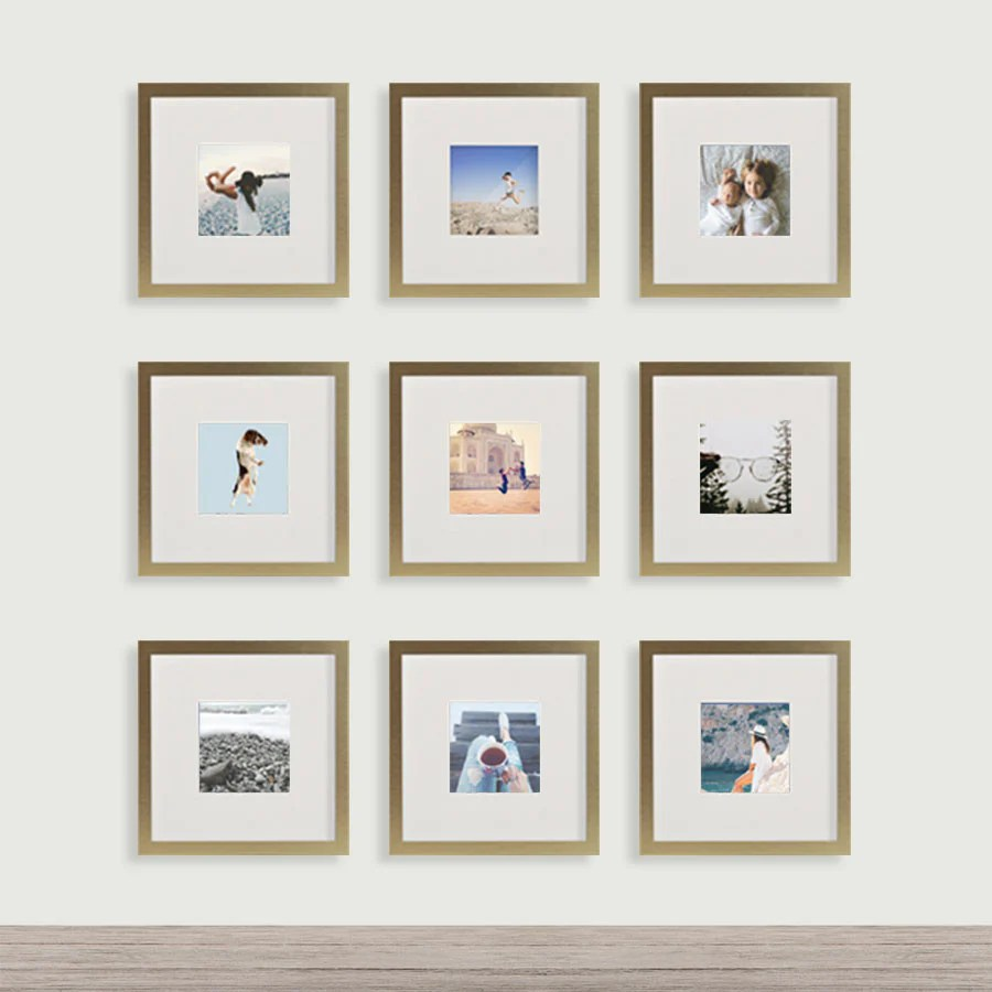 Gold Frame Set Wall Gallery