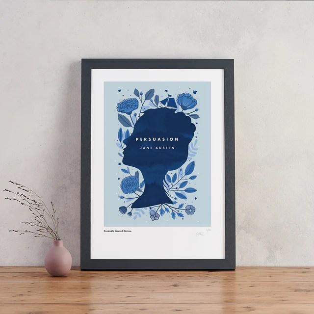 Persuasion book cover art print - Jane Austen gift ideas