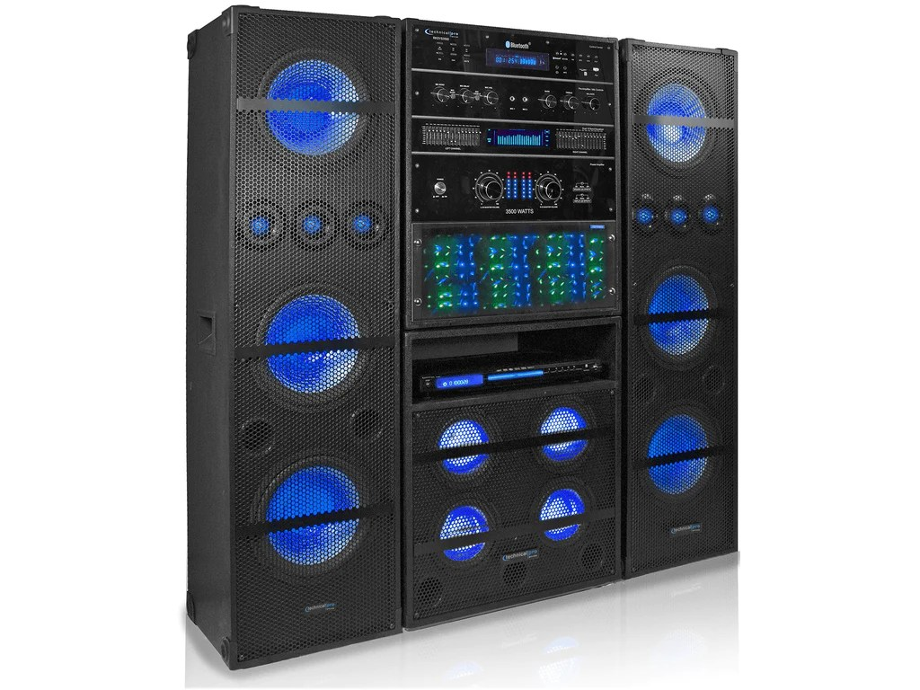 pro 3500 watt audio entertainment rack system